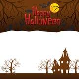 Glücklicher Halloween-Hintergrund Stockfotos
