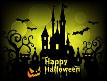 Glücklicher Halloween-Hintergrund-Vektor Stockfotografie
