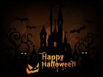 Glücklicher Halloween-Hintergrund-Vektor Lizenzfreies Stockfoto