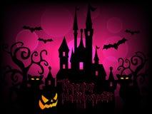 Glücklicher Halloween-Hintergrund-Vektor Lizenzfreie Stockfotos