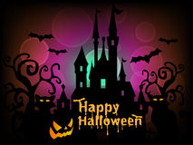 Glücklicher Halloween-Hintergrund-Vektor Lizenzfreie Stockfotografie