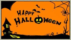 Glücklicher Halloween-Illustrationsvektorhintergrund Lizenzfreie Stockfotos