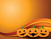 Glücklicher Halloween-Kürbis-Hintergrund Lizenzfreies Stockbild