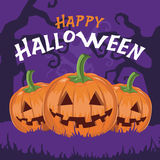 Glücklicher Halloween-Kürbisvektor Stockbild
