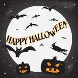 Glücklicher Halloween-Mond Stockfotos