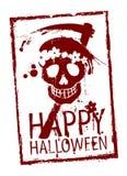 Glücklicher Halloween-Stempel. Lizenzfreie Stockfotos