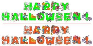 Glücklicher Halloween-Text Stockbild