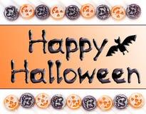 Glücklicher Halloween-Typ Stockfotos