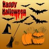 Glücklicher Halloween-Vektor lizenzfreie stockfotografie