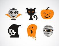 Glücklicher Halloween-Vektorsatz Lizenzfreies Stockfoto