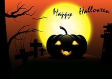 Glücklicher Halloween-Vektorschablonenhintergrund Lizenzfreies Stockfoto