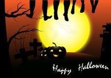 Glücklicher Halloween-Vektorschablonenhintergrund stockfotos