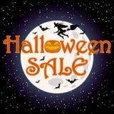Glücklicher Halloween-Verkaufseinkaufshintergrund Stockfotos