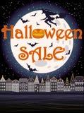Glücklicher Halloween-Verkaufsgrußhintergrund Lizenzfreie Stockfotografie