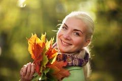 Glücklicher Herbst stockfoto