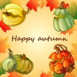 Glücklicher Herbsthintergrund lizenzfreie abbildung