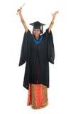 Glücklicher indischer Hochschulstudent des vollen Körpers Lizenzfreies Stockfoto