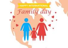 Glücklicher internationaler Familientageslogovektor lizenzfreie abbildung