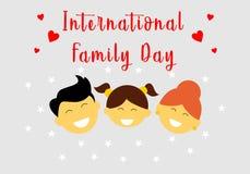 Glücklicher internationaler Familientageslogovektor stock abbildung