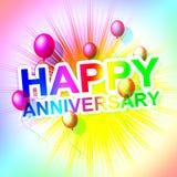 Glücklicher Jahrestag stellt netten Gruß dar und feiert lizenzfreie abbildung