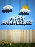 Glücklicher Jahrestagshintergrund Lizenzfreie Stockbilder