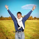 Glücklicher Jugendlicher im Freien Lizenzfreie Stockfotos