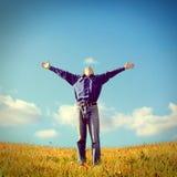 Glücklicher Jugendlicher im Freien Lizenzfreies Stockfoto