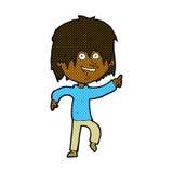 glücklicher Junge der komischen Karikatur Stockfoto