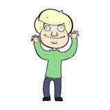 glücklicher Junge der komischen Karikatur Stockbild
