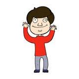 glücklicher Junge der komischen Karikatur Lizenzfreie Stockbilder