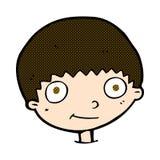 glücklicher Junge der komischen Karikatur Lizenzfreies Stockfoto
