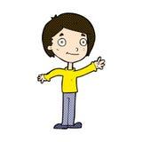 glücklicher Junge der komischen Karikatur Lizenzfreie Stockfotografie