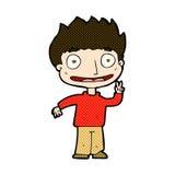 glücklicher Junge der komischen Karikatur Lizenzfreie Stockfotos