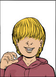 Glücklicher Junge mit dem fehlenden Zahn Lizenzfreies Stockbild
