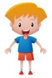 Glücklicher Junge mit großem Lächeln Lizenzfreies Stockfoto
