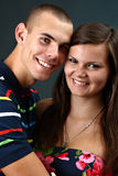 Glücklicher junger Junge und seine Freundin Stockfotos
