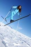 Glücklicher junger Skifahrer Stockbilder