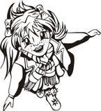 Glücklicher junges Mädchen Anime Lizenzfreie Stockfotos