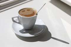 Glücklicher Kaffee Stockfotos