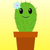 Glücklicher Kaktus Stockfoto
