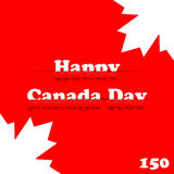 Glücklicher Kanada-Tag stockbild
