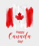 Glücklicher Kanada-Tageshintergrund Stockfotos