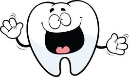 Glücklicher Karikatur-Zahn Lizenzfreies Stockbild
