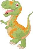 Glücklicher Karikaturtyrannosaurus Stockfoto