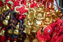 Glücklicher Knoten, Vermögensschlüsselringverzierung für Dekor des Chinesischen Neujahrsfests Lizenzfreie Stockfotografie