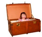Glücklicher Koffer Lizenzfreie Stockfotografie