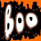 Glücklicher komische Art Halloween-Karte des Buhs Stockbild