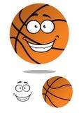 Glücklicher lächelnder Karikaturbasketball Lizenzfreie Stockbilder