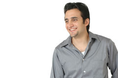 Glücklicher lächelnder Mann lizenzfreie stockfotografie