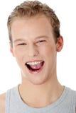 Glücklicher lächelnder Mann des Portraits Stockbild